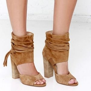 Chinese Laundry | Leigh Camel Suede Heels Size 7.5